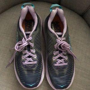 HOKA one one. Athletic sneaker running shoe. 7.5